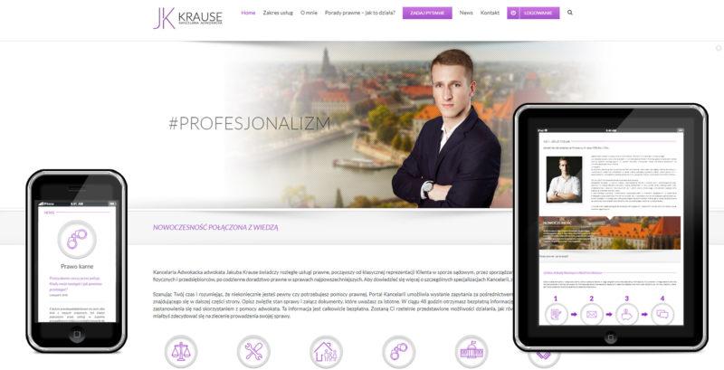 Strona kancelarii adwokackiej Krause
