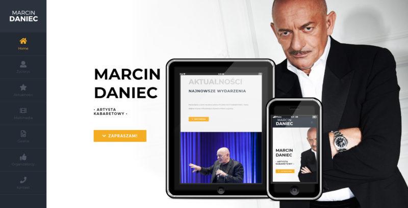Strona internetowa Marcina Dańca