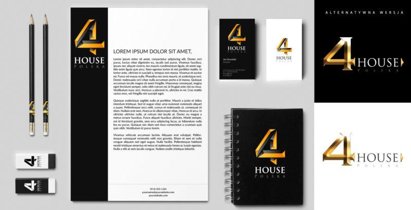 Elementy identyfikacji wizualnej marki 4 House