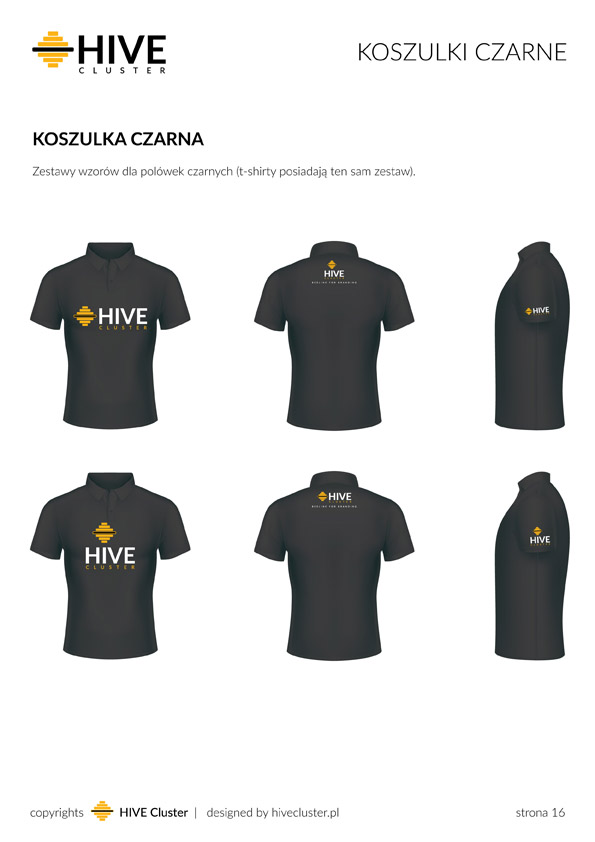 Czarne polówki HiveCluster