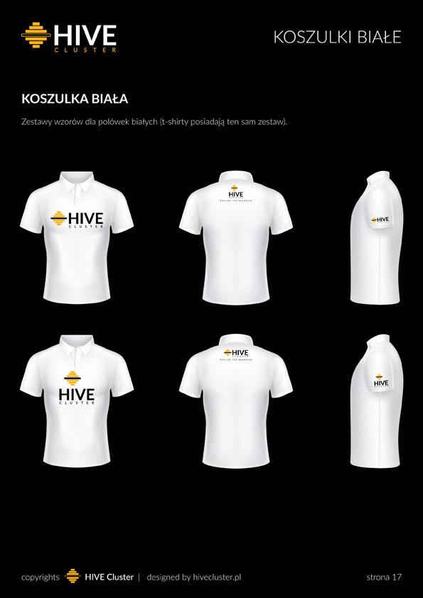 Białe polówki agencji HiveCluster.pl