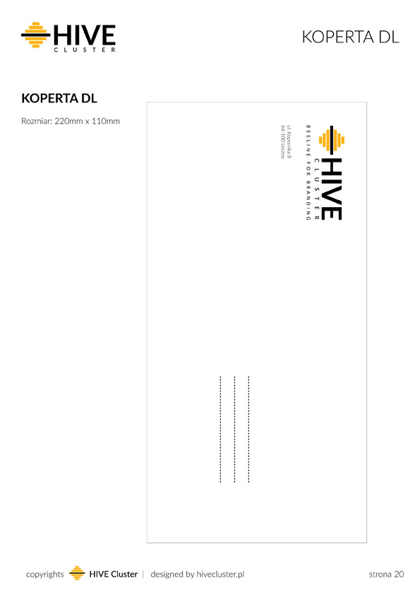 Koperta DL dla HiveClsuter