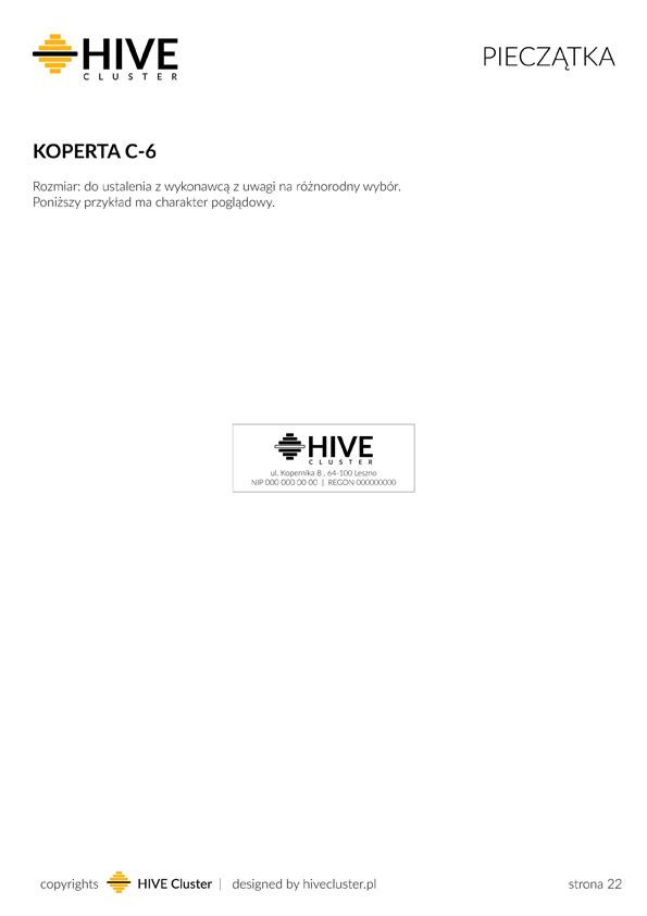 Projekt pieczątki HiveCluster.pl