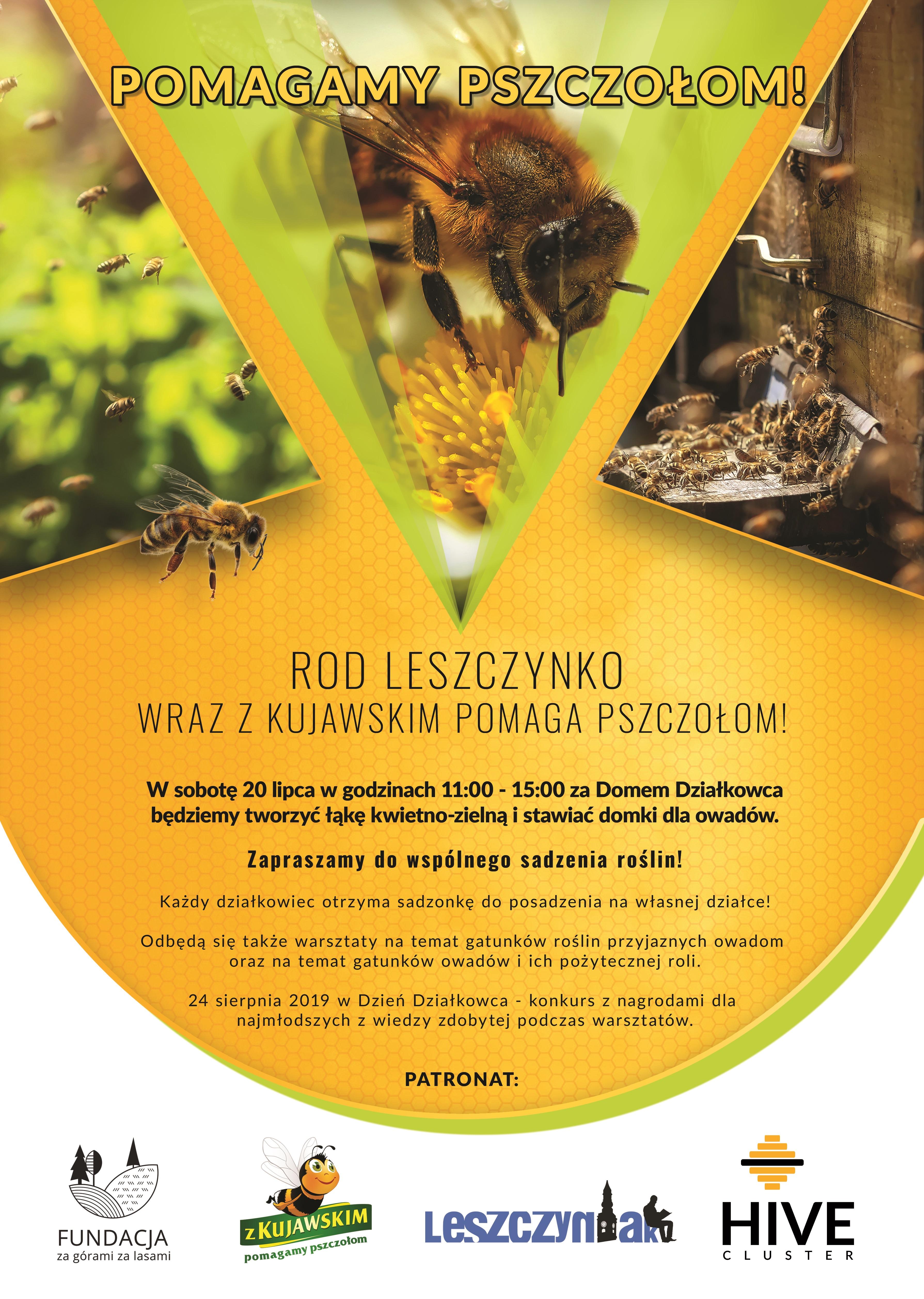 Pomagamy pszczołom z ROD Leszczynko