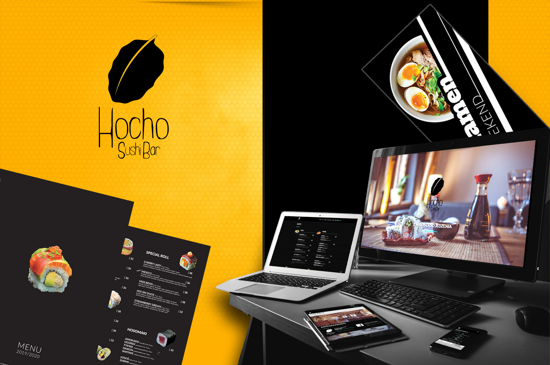 hocho sushi bar grafika