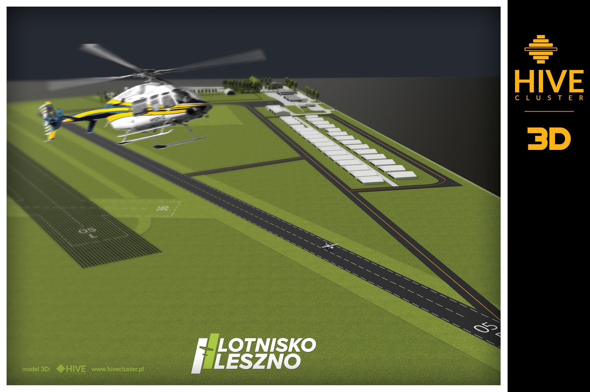 lotnisko leszno model 3d hive cluster